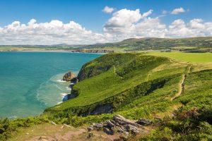 Needle Rock, Pembrokeshire Coast Path near Fishguard, Pembrokeshire Coast National Park