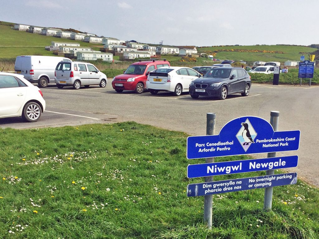 The National Park Authority's Car Park at Newgale