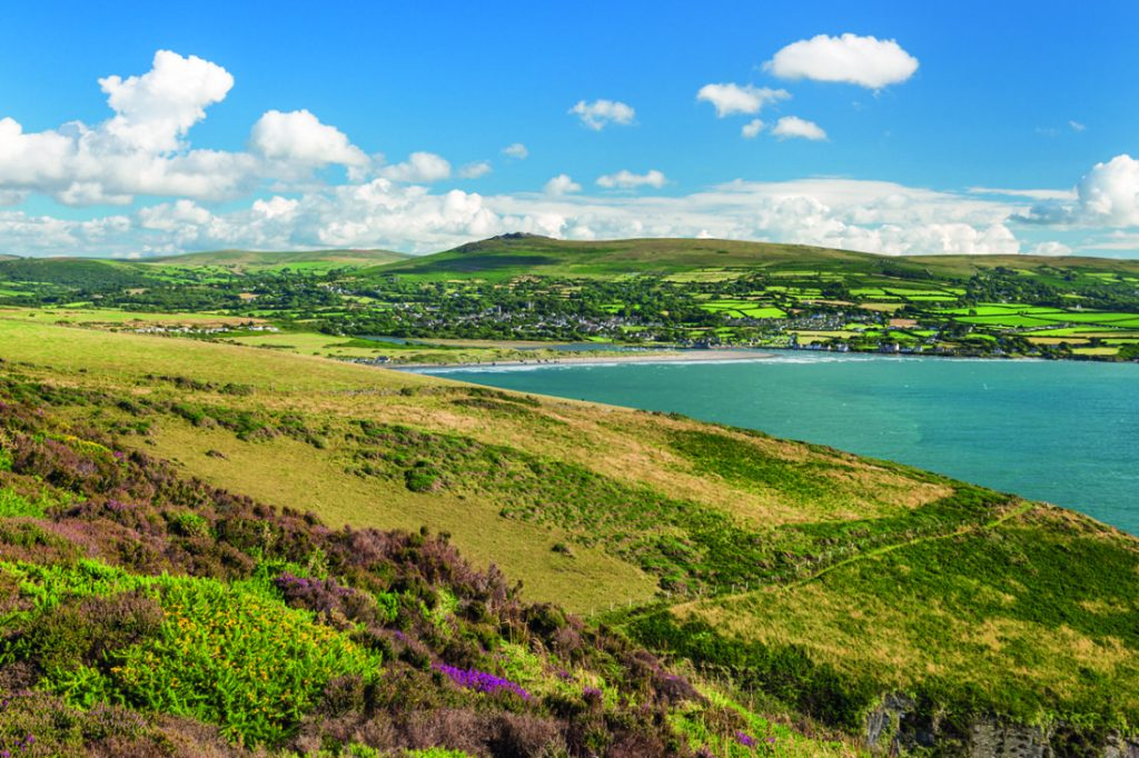 View from Pen y Bal across to Newport, Pembrokeshire