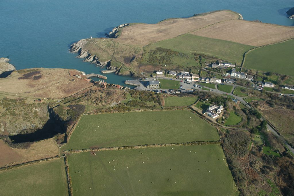Aerial view of Porthgain, Pembrokeshire
