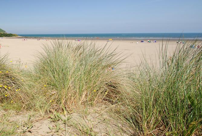 Sand dunes at Poppit Sands, Pembrokeshire, Wales