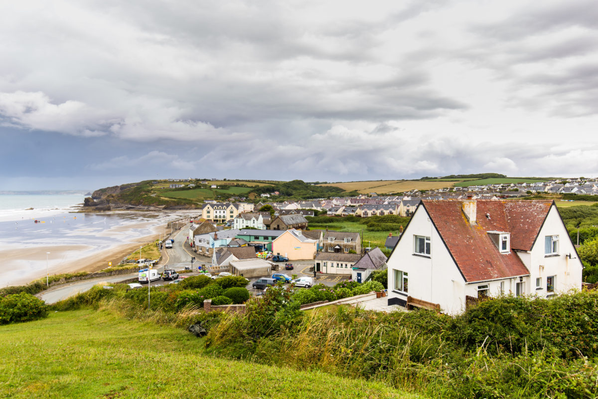 Photograph of the seaside village of Broad Haven in the Pembrokeshire Coast National Park