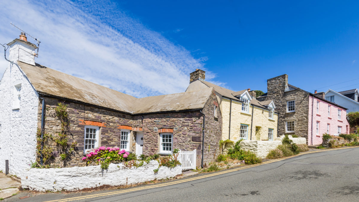 Colourful cottages in St Davids, Pembrokeshire