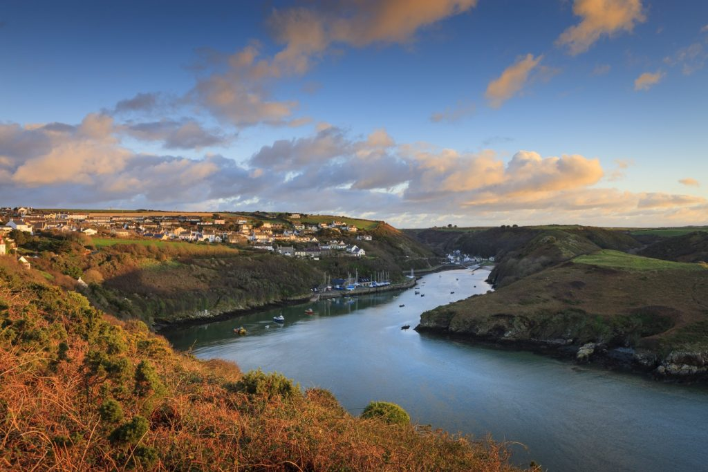 Seaside village of Solva in the Pembrokeshire Coast National Park