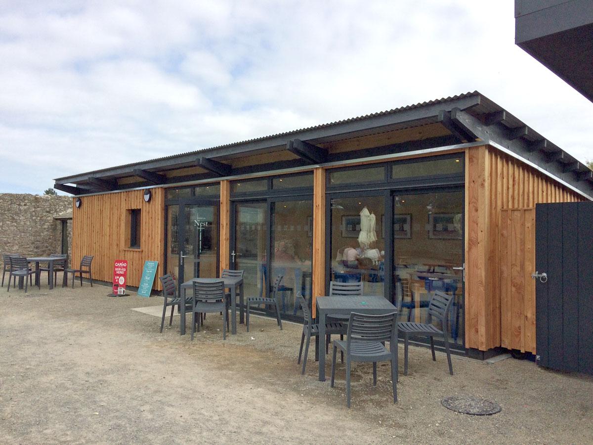 Nest Tearoom at Carew Castle, Pembrokeshire Coast National Park, Wales, UK