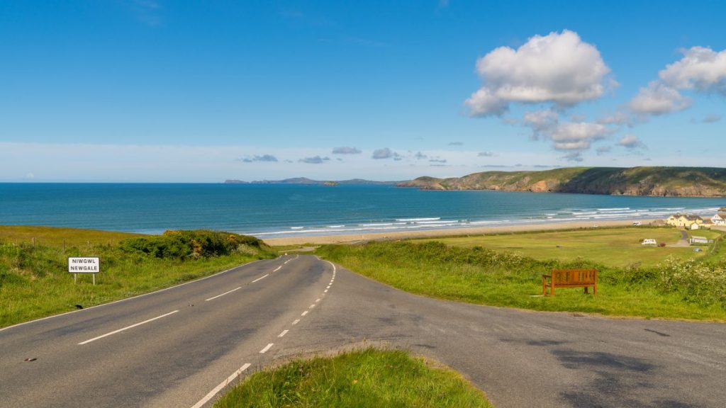 View towards Newgale, Pembrokeshire, Dyfed, Wales, UK