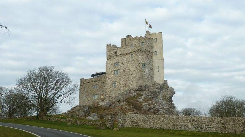 Roch Castle near Newgale in the Pembrokeshire Coast National Park