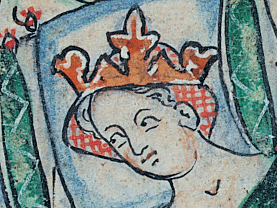 Princess Nest detail from medieval manuscript in the British Library