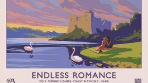 ENDLESS ROMANCE retro railway poster