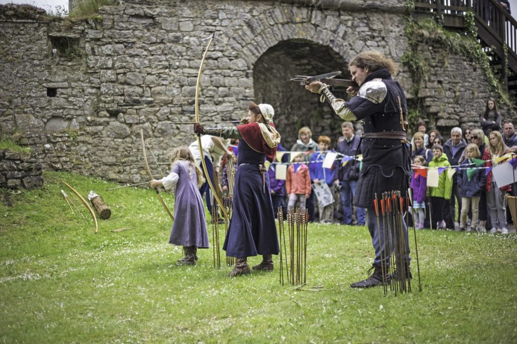 Archery event at Carew Castle