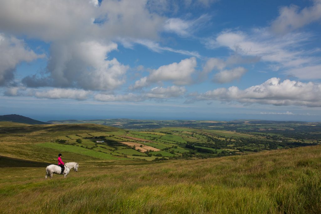 Horserider in the Preseli Hills, Pembrokeshire, Wales, UK