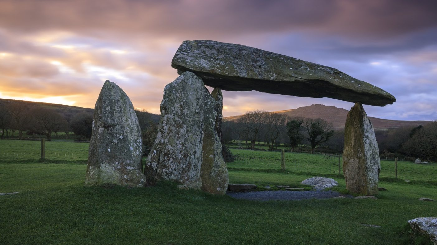 Pentre Ifan Burial Chamber in Pembrokeshire, Wales, UK