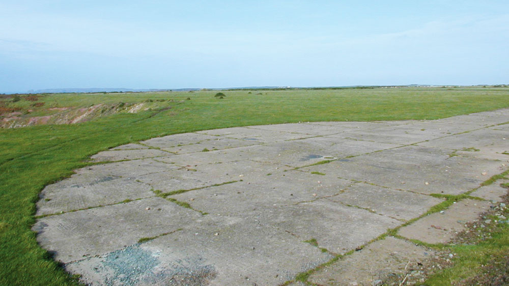Remains of Second World War airfield at Dale