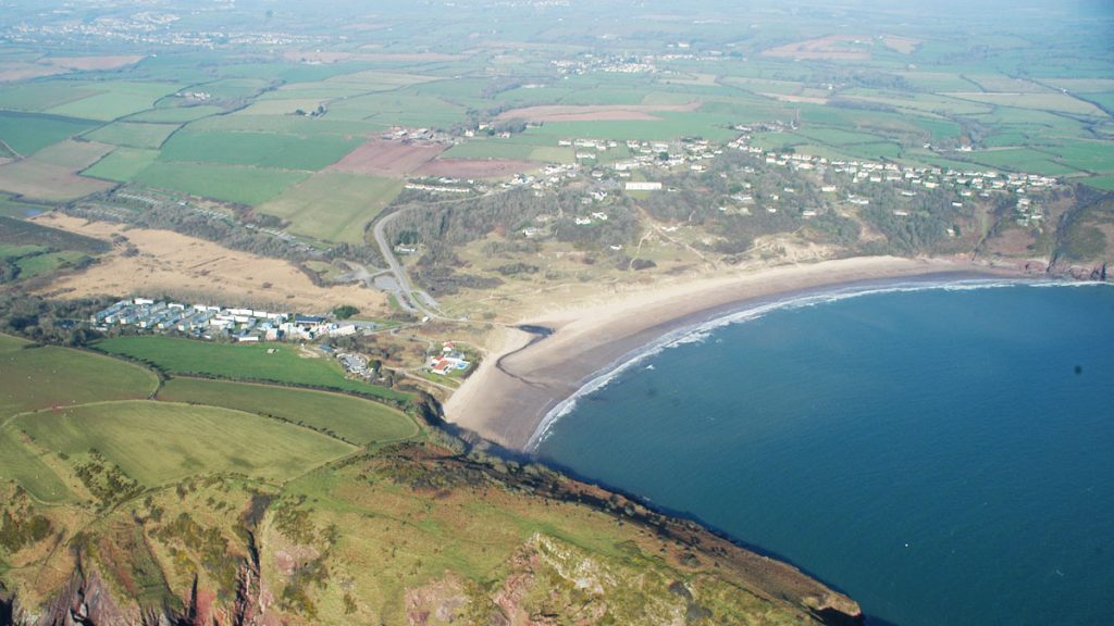 Aerial photo of Freshwater East
