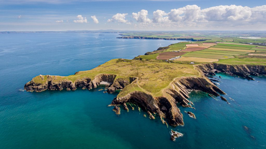 Aerial Photo of Deer Park, Marloes, Pembrokeshire Coast National Park, Wales, UK