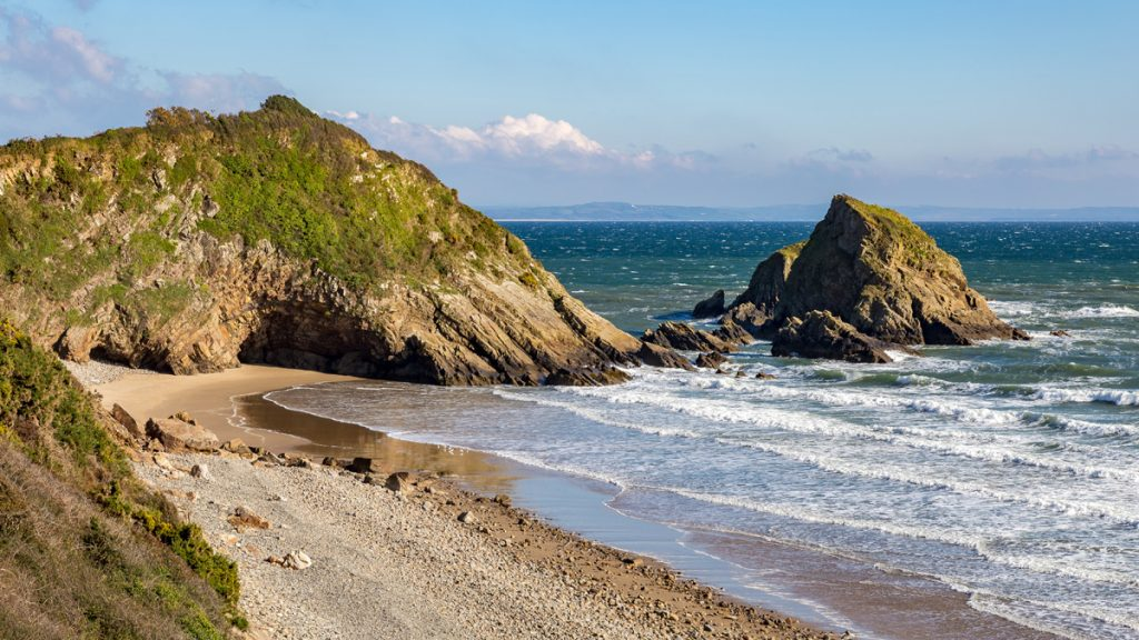 Monkstone Beach, between Tenby and Saundersfoot