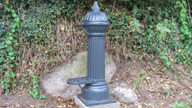 Restored cast iron tap in Goat Street, Newport