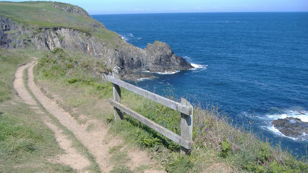 Pembrokeshire Coast Path at Pwllcaerog