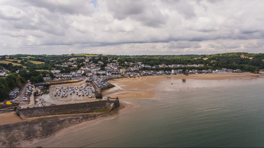 Aerial view of Saundersfoot
