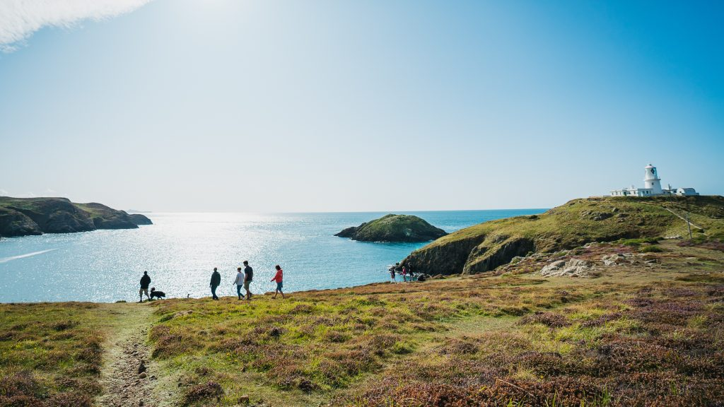 Walkers at Strumble Head