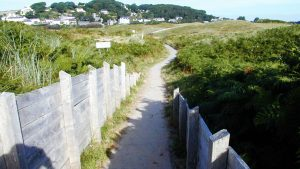 Footpath to Tenby South Beach from Penally