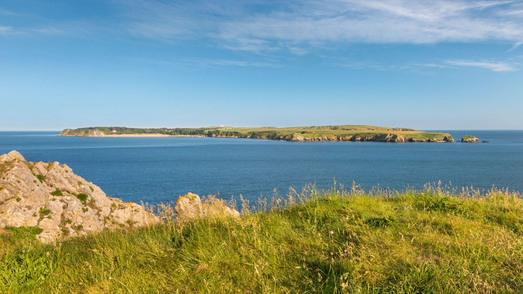 View from Penally towards Caldey Island