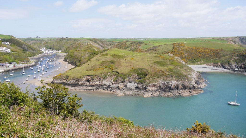 Solva Harbour and Gwadn beach