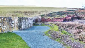 Path to viewpoint at St Brides Haven