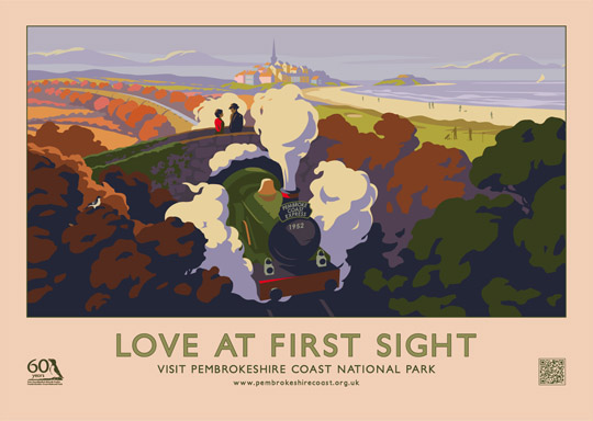 LOVE AT FIRST SIGHT retro poster