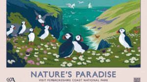NATURE'S PARADISE retro railway poster