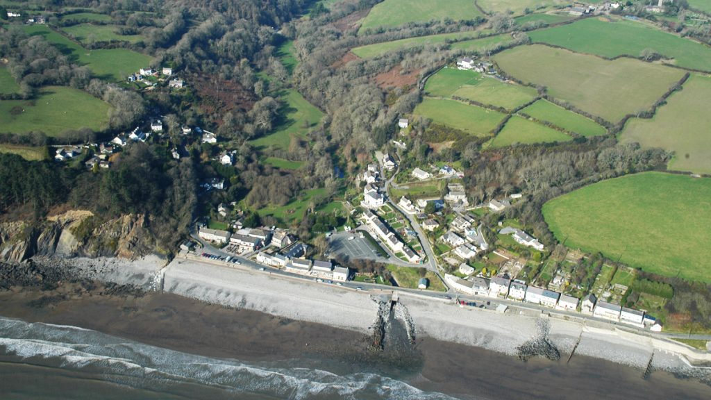 Aerial photograph of Amroth