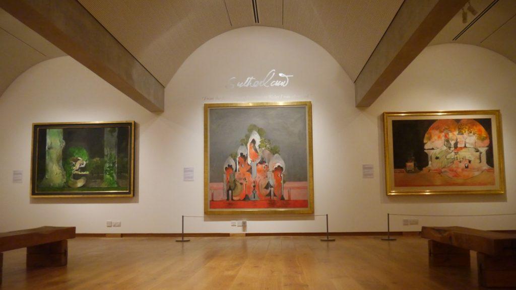 Graham Sutherland paintings on display at Oriel y Parc