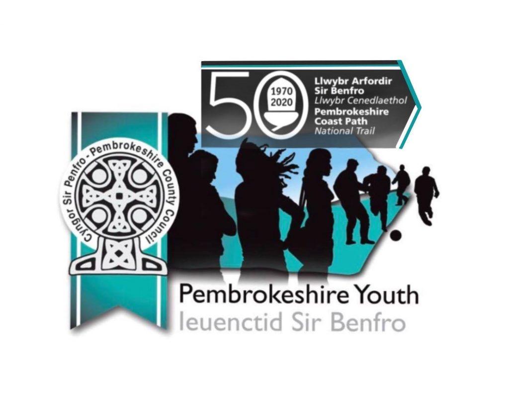 Pembrokeshire Youth Virtual Coast Path Walk Logo