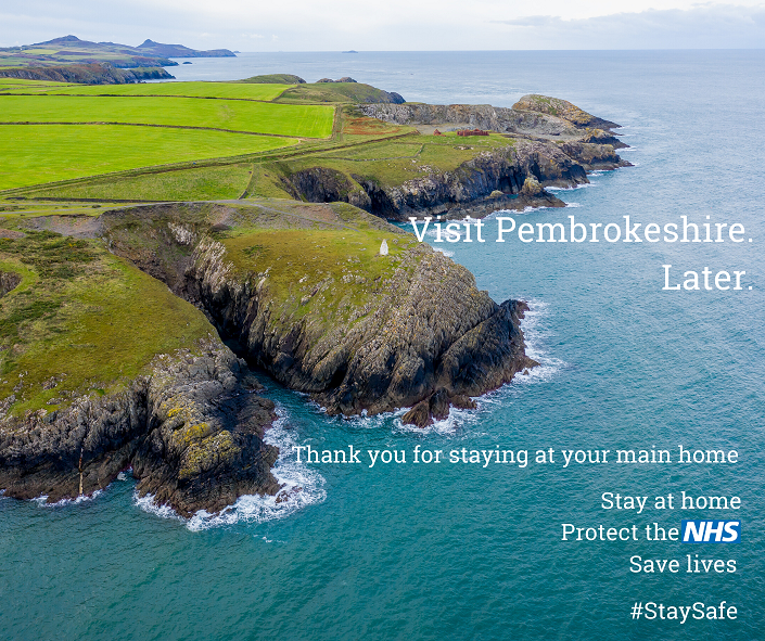 Image to encourage people to Visit Pembrokeshire later, after coronavirus pandemic is over