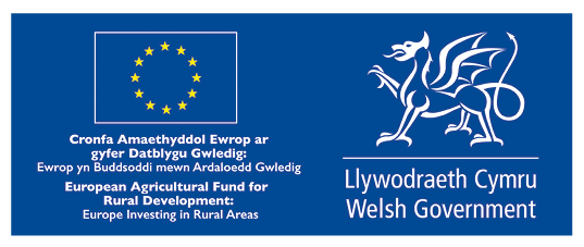 European Union/Welsh Government Funding Logo (European Agricultural Fund for Rural Development)