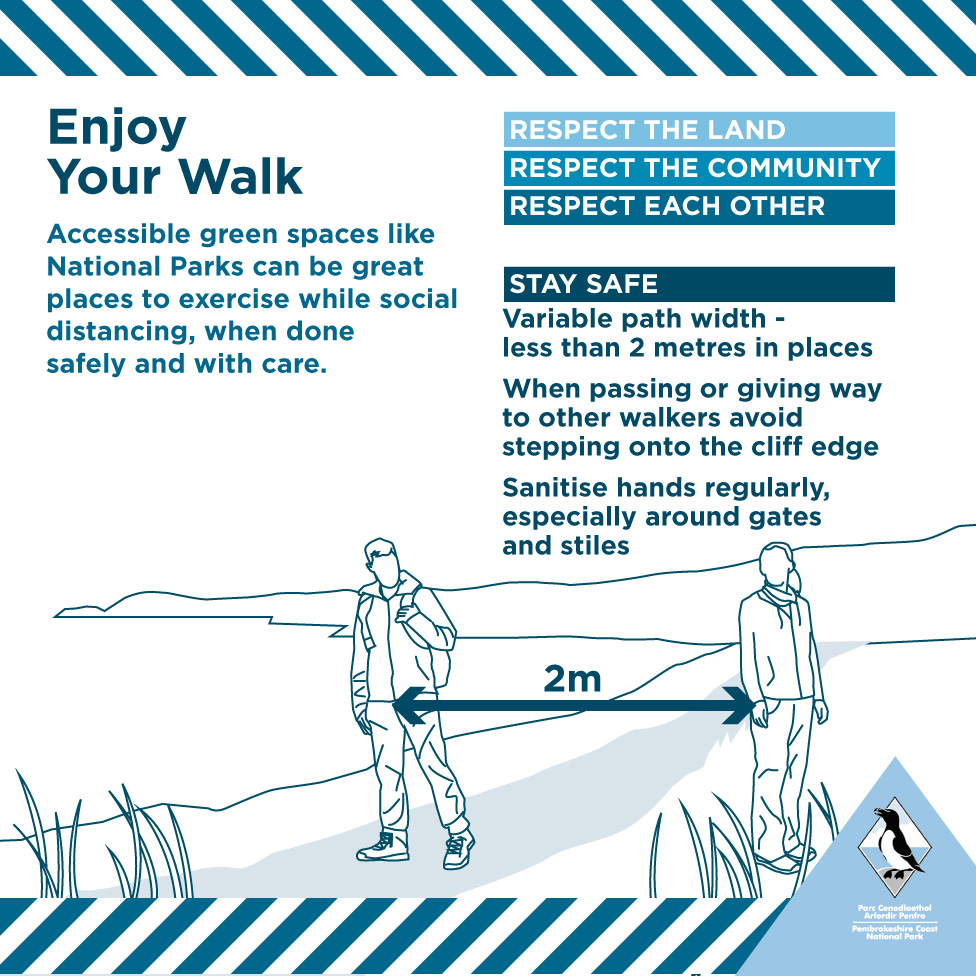 Enjoy you walk coronavirus advice poster