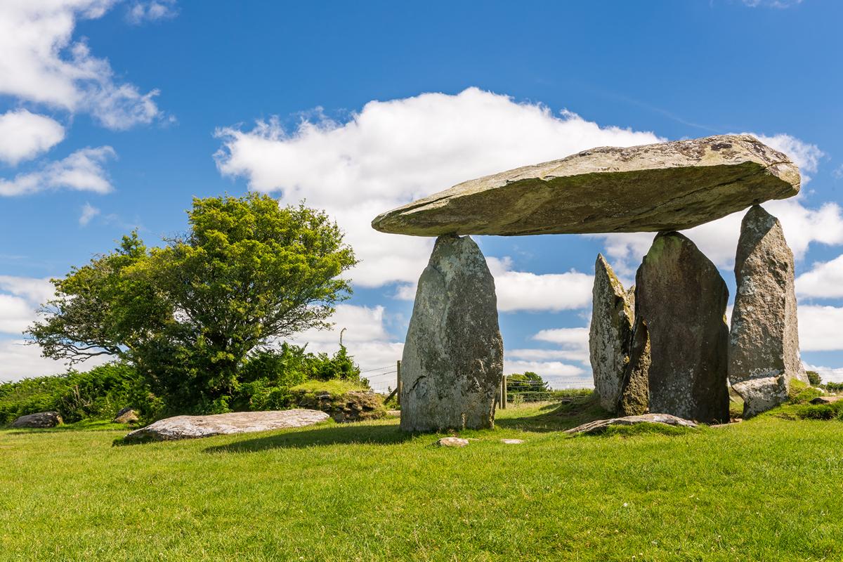 Pentre Ifan Burial Chamber (cromlech) near Newport, Pembrokeshire