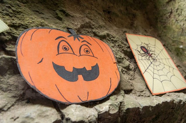 Halloween decorations at Carew Castle
