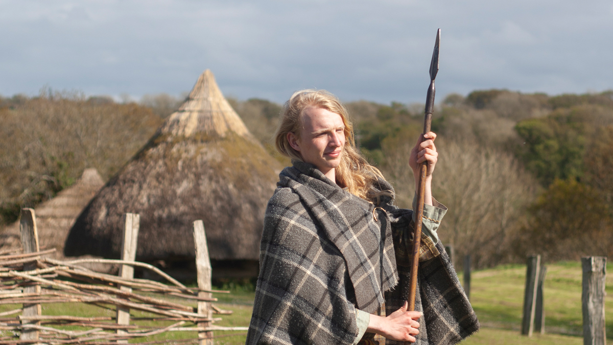 Iron Age Warrior at Castell Henllys Iron Age Village