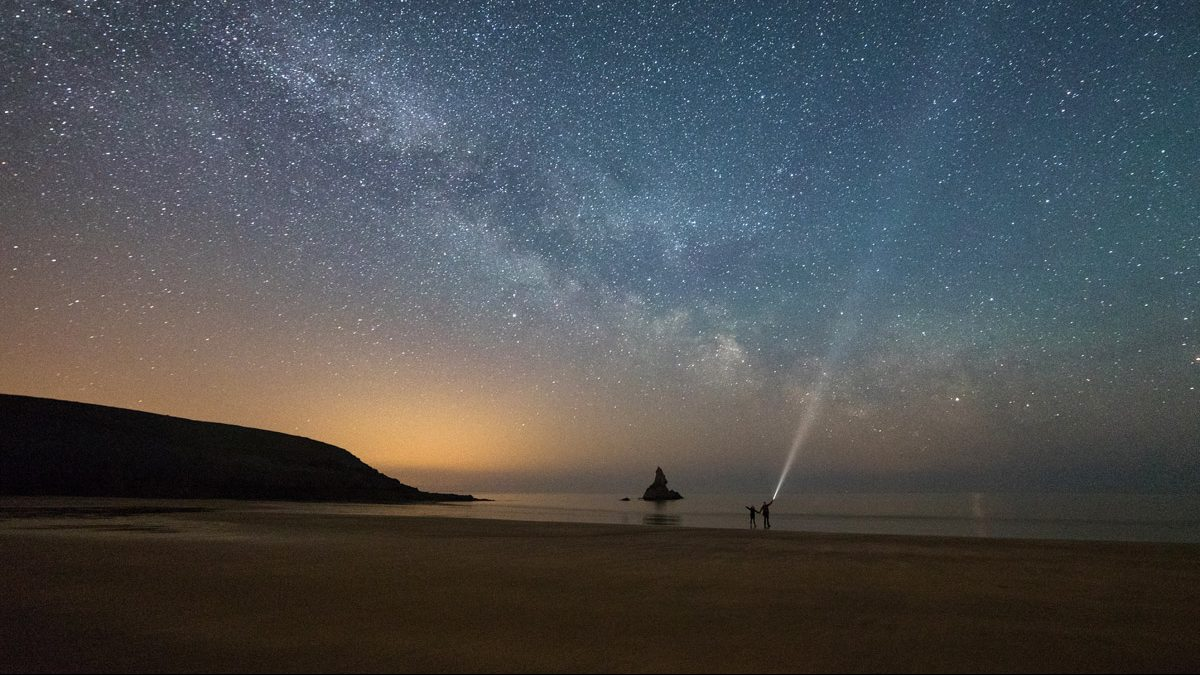 Milky way above Broad Haven South