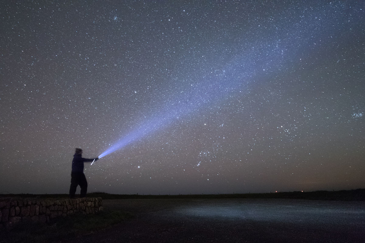Stargazer at Kete near Dale in the Pembrokeshire Coast National Park