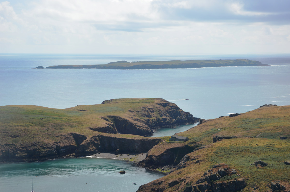 Aerial photograph of Skomer and Skokholm islands (by Lucy Griffiths)