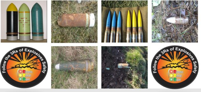 Ammunition found on Castlemartin Range